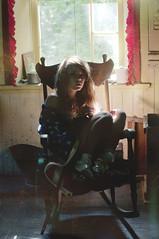 (yyellowbird) Tags: house selfportrait abandoned girl illinois flag american cari