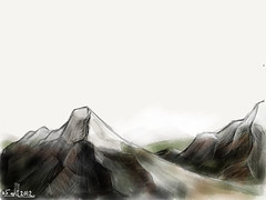 #MadeWithPaper mountain range sketch (WouterZArtZ - Dutch Designs!) Tags: mountain art illustration sketch graphic drawing madewithpaper ipad2 paperapp paper53 learningpaper
