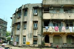 Upper Stories (Victoria Lea B) Tags: india apartment laundry bombay highrise mumbai