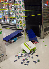 Grocery store disaster! (Librarianguish) Tags: shopping gum store chaos display fallen grocery scattered 512 knockedover