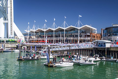 Gunwharf Quays, Portsmouth (P Sterling Images) Tags: blue sea sky tower water boats harbour sony fast sigma hampshire filter solent ribs portsmouth rib spinnaker quays slt gunwharf a35 18200mm polarising