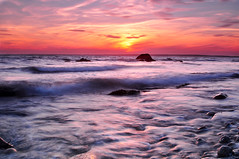 Sunset at Gooseberry (R. Fazio) Tags: longexposure sunset seascape rocks waves goosberry hitechfilters