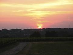 Coucher de soleil au Château du Garde