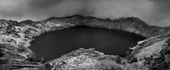 Quilotoa Panorama IR (Mauro Morn) Tags: panorama lake landscape ir lumix volcano ecuador paisaje infrared laguna cotopaxi hoya panormica volcn r72 quilotoa infrarrojo gf1