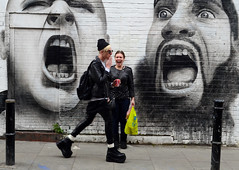 Scream (davemason) Tags: street art girl big boots hackey londonist sceaming aperturewoolwich