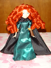 Brave Mini Doll Set - Deboxed- Adventure Princess Merida - Full Front View #1 (drj1828) Tags: 6 black green set dark store doll pieces princess mini disney adventure merida pixar cape brave gown deboxed