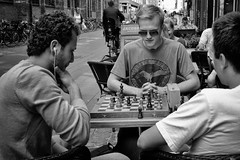 Serious game - among friends ! (mly2000) Tags: playing copenhagen town fuji chess down mohammed phillip rasmus 100strangers xpro1 mly2000