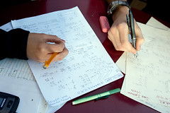 Student Collaboration (USC | University of Southern California) Tags: ca usa male female pencil handwriting paper losangeles calculator homework notetaking mechanicalpencil