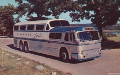 The Greyhound Scenicruiser (The Cardboard America Archives) Tags: greyhound bus vintage postcard scenicruiser