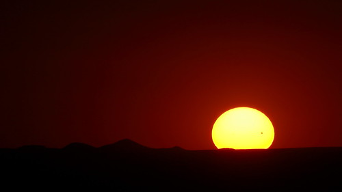 Sunset during the 2012 Venus Transit!