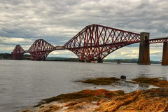 FORTH ROAD RAILWAY BRIDGE, QUEENSFERRY, NR EDINBURGH,SCOTLAND,UK. (ZACERIN) Tags: road bridge scotland nikon edinburgh railway hdr d800 bridge road nikon forth zacerin d800