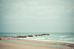 (Ovidiu H.) Tags: blue sea sky beach landscape seaside spring europe quiet peace view perspective minimal silence romania blacksea tamron2875f28 eforie nikond300