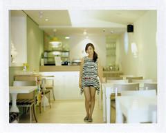 . (Daa) Tags: portrait girl cafe taiwan explore cc even 4x5 taichung lespace explored fujifp100c schneiderxenotar150mmf28  graflexspeedgraphin