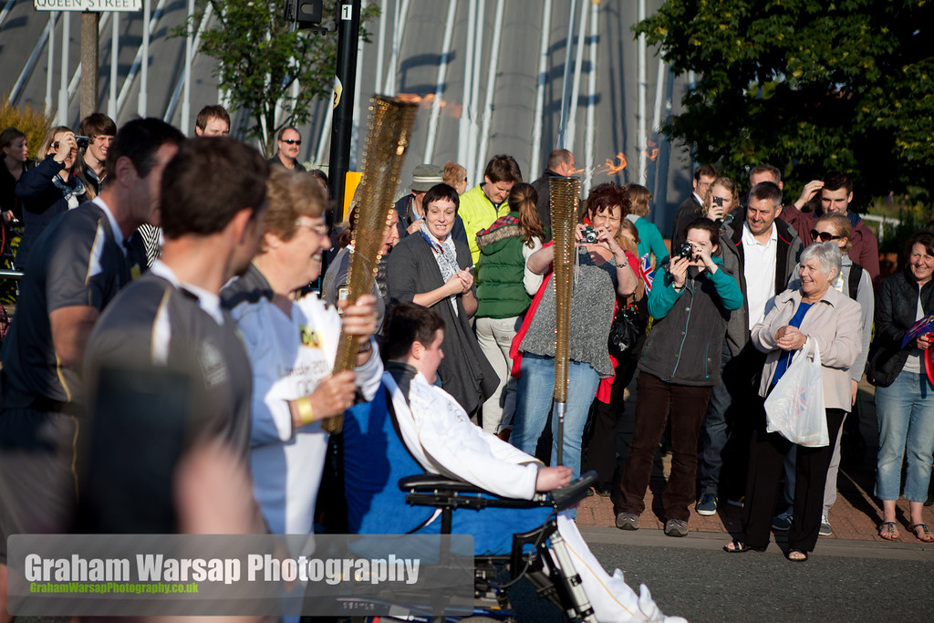 Olympic Torch at the Deep-0871