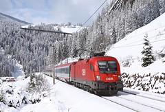 1116 089, Sankt Jodok, 24 March 2014 (Mr Joseph Bloggs) Tags: city st electric train austria euro siemens railway locomotive 88 taurus bahn railways austrian sankt ec obb 089 jodok 1116 ec88 1116089