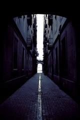 Hope? (#MariaOrtega) Tags: barcelona street dark hope vanishingpoint gothic mind puntodefuga