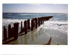 Instant Beach (hieburt1) Tags: color beach queens dreamy rockawaybeach fujiinstax210