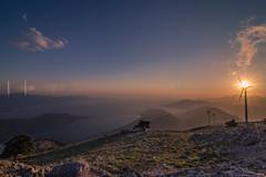 Sunset view from the top of the mountain (Vagelis Pikoulas) Tags: blue sunset sea sun mountain mountains canon landscape spring europe view may tokina mount greece sunburst 2016 vilia kithaironas 1628mm kithairwnas