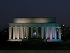Lincoln Memorial (Matthias Harbers) Tags: city blue light sunset sky usa white building monument lamp night photoshop canon 1 evening dc washington inch powershot elements labs nationalmall lincolnmemorial dxo abrahamlincoln nationalmonument topaz superzoom 1inch g3x