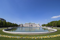 Springtime at the Upper Belvedere (Olivier So) Tags: vienna reflection water austria palace belvedere schlossbelvedere