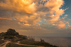 Crossed Paths (wayne kimbell) Tags: sunset clouds december bigclouds pinkclouds moremesa