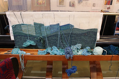 Loom-inescence (skipmoore) Tags: yarn sausalito weaving loom tapestry icb alexandrafriedman winteropenstudios