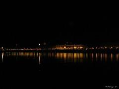 Quaies illumines - Place de la Bourse 2 (Caroline-A) Tags: city light monument water colors architecture night mirror streetlight bordeaux reflects