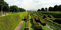 The Thames Barrier Park, Silvertown (shadow_in_the_water) Tags: park trees london topiary 1995 dlr silvertown thamesbarrierpark e16 landscapegarden pontoondockstation thethamesbarrier northwoolwichroad pateltaylor alainprovost yewhedges