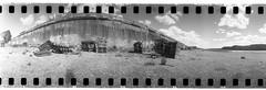 Abandoned Pallets (New Paltz Camera Company) Tags: camera new york white ny black film monochrome analog 35mm river lens kodak tmax scanner bob 360 d76 plastic poughkeepsie developer valley 400 epson hudson analogue v600 expired banks esposito spinner