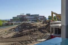 Here Come the Machines (aaronrhawkins) Tags: new building utah site construction cement engineering ground caterpillar sidewalk dirt machines shovel mound dig preparation provo frontendloader byu brighamyounguniversity aaronhawkins