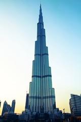 The sky is the limit - Burj Khalifa (1108Visions) Tags: sunset dubai burjkhalifa