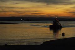DSCF2244 (bleeps!) Tags: reflection boats lights wake harbour somerset navigation highbridge pilotage