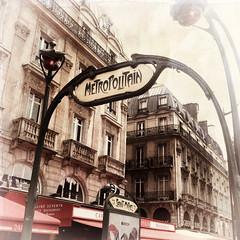 Paris series (Nick Kenrick.) Tags: paris france metro artnouveau hss metroentrance saintmichelstation artnouveaumetroentrance