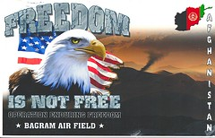 05 choke (Rocky's Postcards) Tags: afghanistan us eagle propaganda postcard military text bald patriotic american operation choke airfield jingoism bagram enduringfreedom