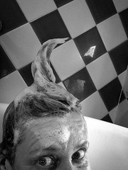 143/365 Request (NSJW photos) Tags: silly me hair naked fun bathroom bath may bubbles spike silliness 143 selfie 2016 hairwash 143365 365selfies nsjwphotos 1433652016