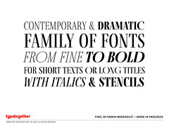 Sneak Peek: Fino (TypeTogether) Tags: typeface preview sneakpeek ligatures fino uppercase typetogether wwwtypetogethercom erminmeđedović lipaagate