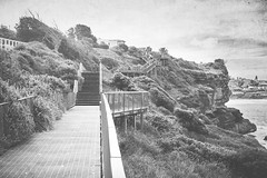 Boardwalk Cliff (Schwaco) Tags: ocean cliff beach bondi walk board sydney rocky australia coastal shore edge boardwalk coogee sydneyaustralia