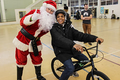 IMG_5541edit (Philadelphia Parks and Recreation) Tags: santa family winter holiday kids event giveaway adults westphilly pinkbike district8 pumptrack carouselhouse sharetheride