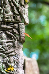 Light Touch (Guillaume Desfeux) Tags: green stone cambodia dragonfly bokeh depthoffield wat angor