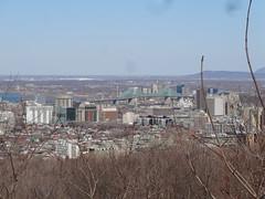 Montreal. City vista from Parc du Mont Royal. View from Mount Royal. (denisbin) Tags: bridge church skyline catholic montreal biosphere dome racoon olympicstadium olympicpark oratoirestjoseph parcdumontroyal parcolympique mountroyalpark staqdeolympique