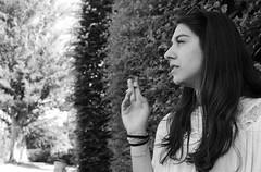(Flavio Calcagnini) Tags: portrait parco white black tree girl beautiful beauty hair cigarette smoke flavio albero ritratto ragazza capelli fumo sigaretta calcagnini