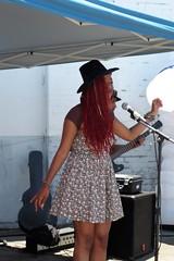 Grooving with Shy But Flyy ! (Joey Z1) Tags: streetscene singer urbanlife outdoormusic lalife reddreads womanwithredhair singingtheblue urbanla laasseenbyjoeyz1 bylaphotolaureatejoeyzanotti shybutflyy groovingwithshybutflyy singershybutflyy