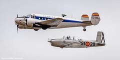 Beechcrafts (Ignacio Ferre) Tags: madrid airplane nikon aircraft airshow avin fio mentor lecu cuatrovientos spantax spanishairforce fundacininfantedeorleans beechcraftt34a beechcraftc45