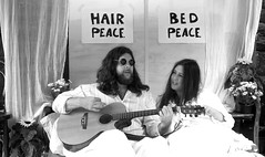 Give Peace A Chance (sapko1961) Tags: blackandwhite monochrome weekend 1960s johnlennon haworth givepeaceachance johnandyoko