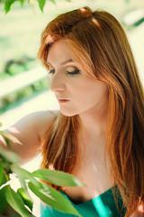 Martina Santucci (elparison) Tags: red green portraits pretty redhead redhair