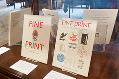 Fine Print: The Review for the Arts of the Book (The Book Club of California) Tags: sf sanfrancisco magazine exhibition calligraphy letterpress bookbinding papermaking typedesign bookarts fineprint woodengraving exhibitionart fineprinting fineprintmagazine sandykirshenbaum sandrakirshenbaum