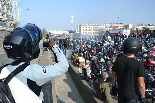 Manif FFMC sur le périphérique - Paris - 25 Mars 2012