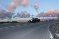 W124 500E / E500 @ Promna (Gienkas) Tags: blue mercedes twilight dusk poland mercedesbenz nautical 500 w124 929 e500 500e 124036