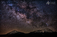 Hiding In The Dark (Mike Berenson - Colorado Captures) Tags: sky mountains night stars bravo colorado teapot rockymountains caffeine allrightsreserved goodtimes milkyway designateddriver sagitarius laveta longdrive walsenburg spanishpeaks lavetapass stayawake coloradocaptures copyright2012bymikeberenson
