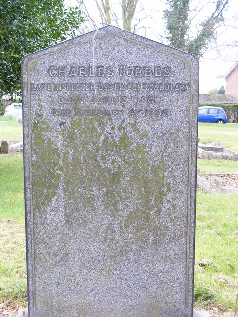 Charles Forbes  Police Inspector. Gravestone ,HOLY TRINITY CHURCHyard, Chelmsford